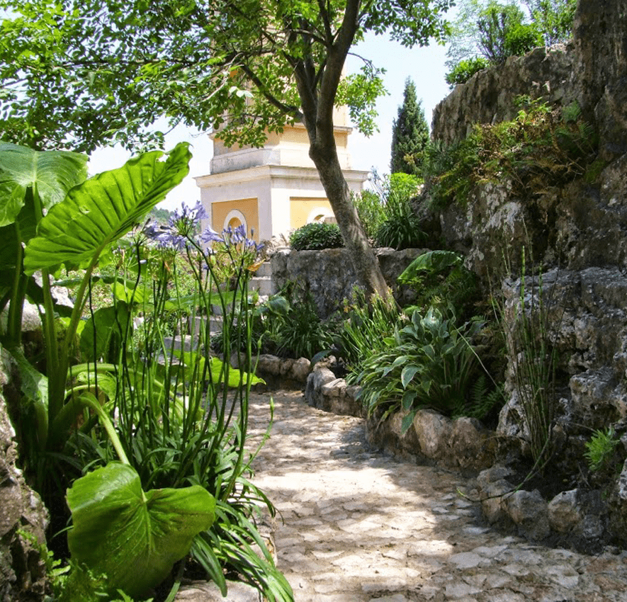 The exotic garden in Eze