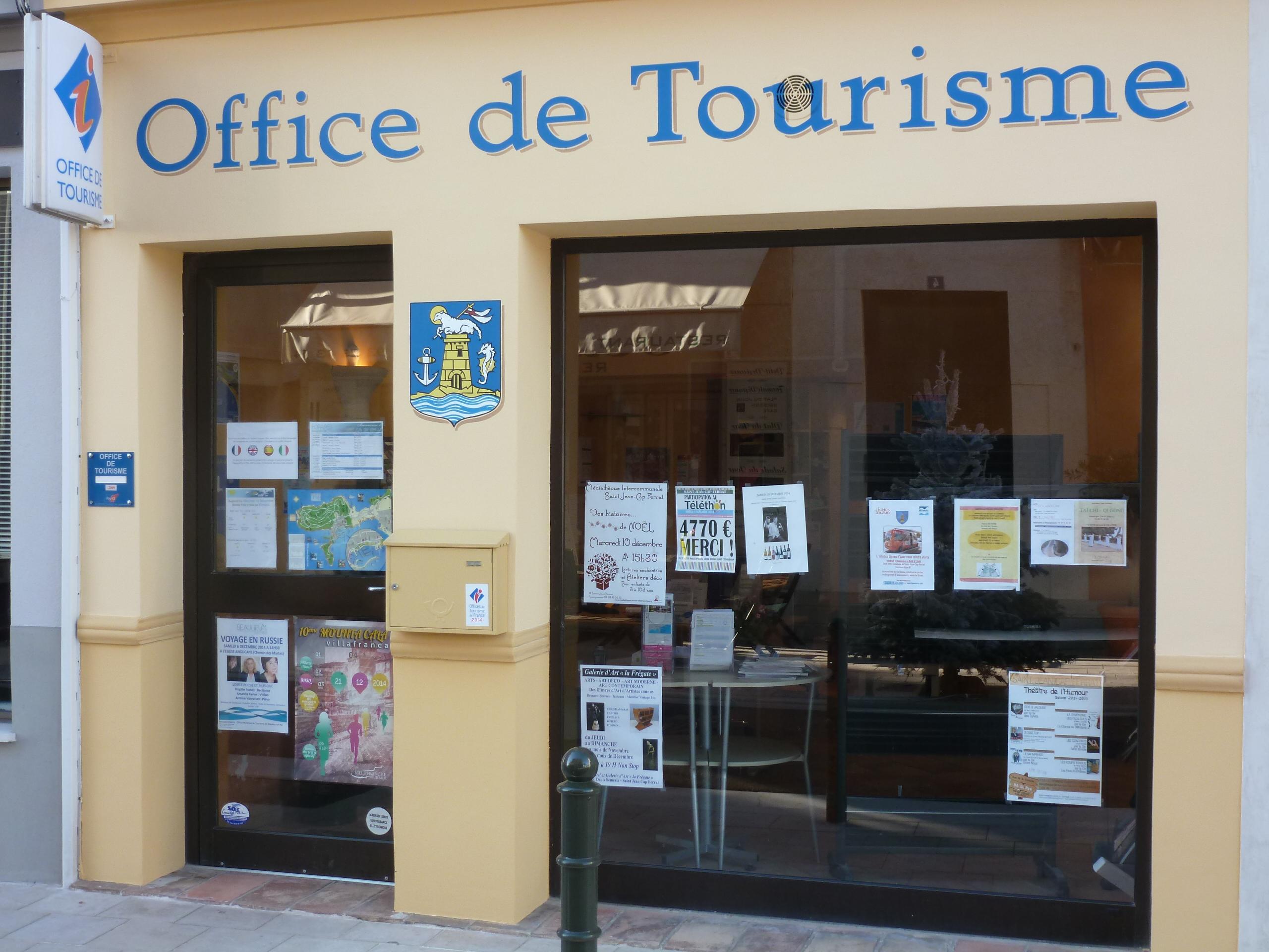 Information accueil office de tourisme saint jean cap ferrat